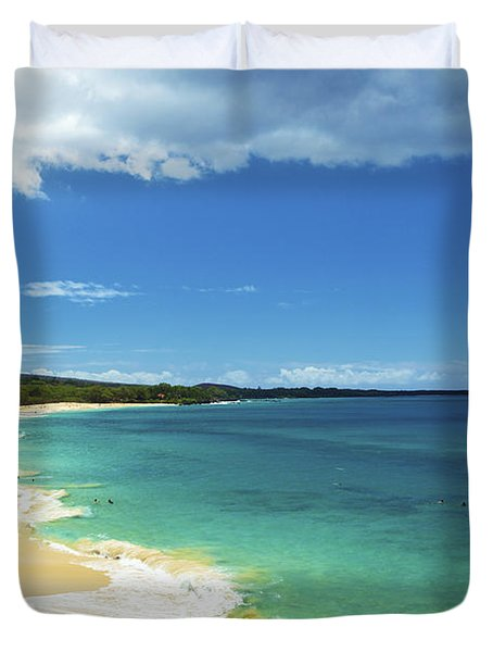 Makena Beach Lookout Duvet Cover by Kicka Witte