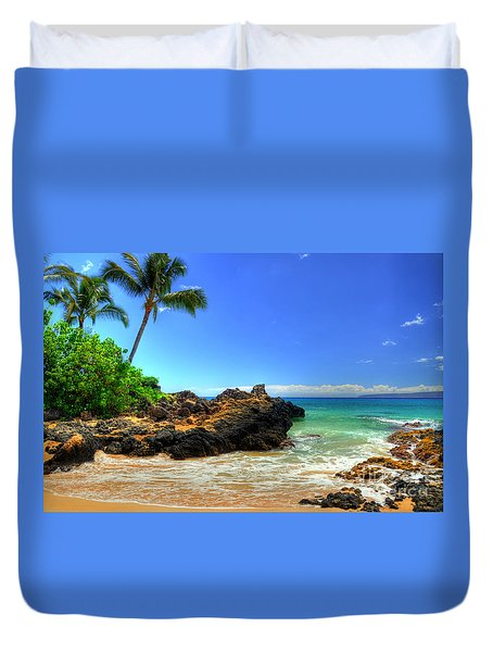 Makena Secret Cove Paako Beach Duvet Cover