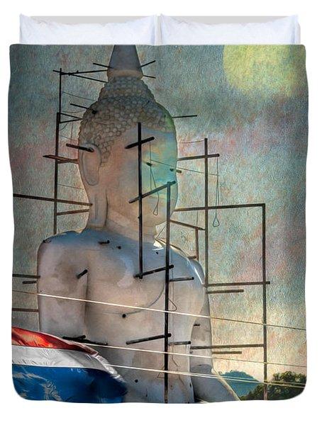 Making Buddha Duvet Cover by Adrian Evans
