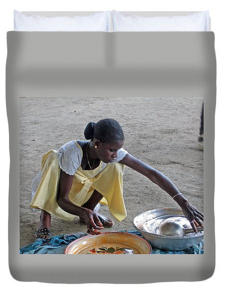 Making Lunch Dakar Senagal Duvet Cover