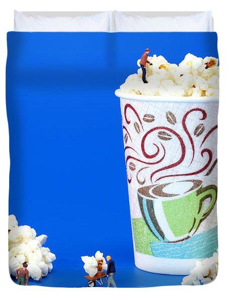 Making Popcorn Duvet Cover by Paul Ge