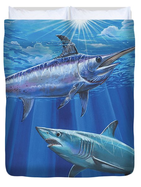 Mako Sword Off0024 Duvet Cover by Carey Chen