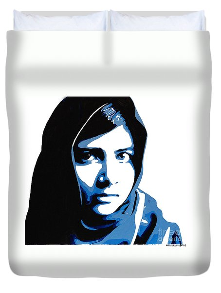 Malala Yousafzai On Friday Duvet Cover