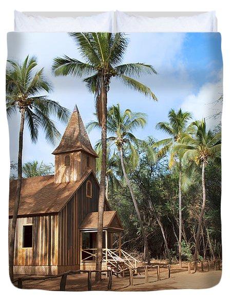 Malamalama Church Duvet Cover by Jenna Szerlag