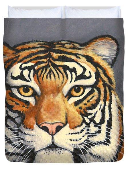 Malayan Tiger Portrait Duvet Cover