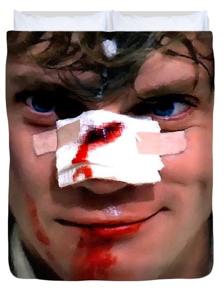 Malcolm Mcdowell As Alex In The Film Clockwork Orange By Stanley Kubrick 1971 Duvet Cover