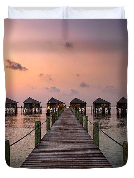 Maldives Sunrise Duvet Cover