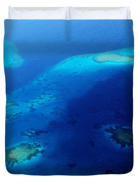 Maldivian Reefs. Aerial Journey Over Maldivian Archipelago Duvet Cover by Jenny Rainbow
