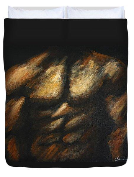 Male Bodybuilder Duvet Cover
