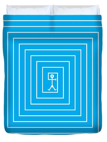 Male Maze Icon Duvet Cover by Thisisnotme