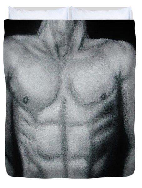 Male Nude Study Duvet Cover by Michael Cross