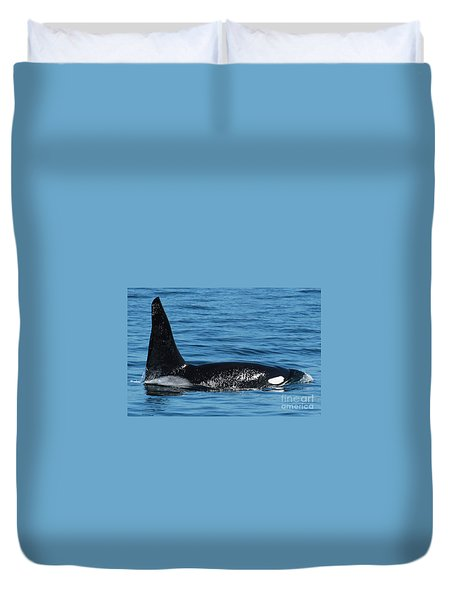 Duvet Cover featuring the photograph Lonesome George Ca165  Male Orca Killer Whale In Monterey Bay California 2013 by California Views Mr Pat Hathaway Archives