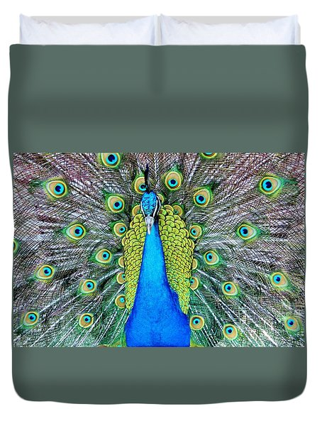 Male Peacock Duvet Cover