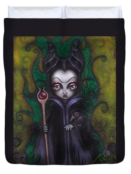 Maleficent  Duvet Cover by Abril Andrade Griffith