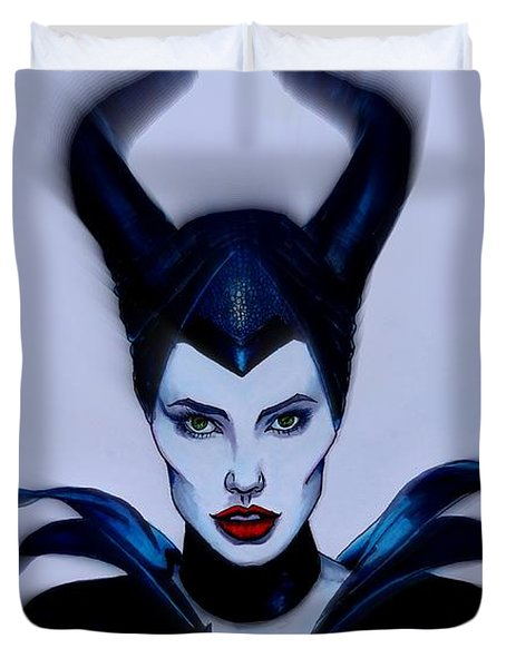 Maleficent Focused Duvet Cover