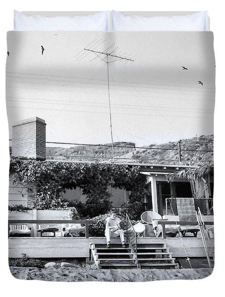 Malibu Beach House - 1960 Duvet Cover
