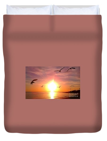 Malibu Paradise Duvet Cover by Chris Tarpening