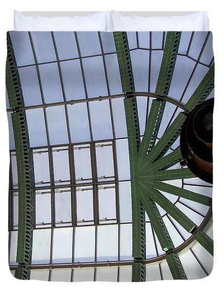 Duvet Cover featuring the photograph Mall Of Emirates Skylight by Andrea Anderegg