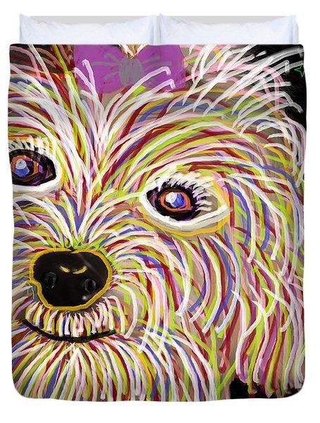 Maltese Art Duvet Cover