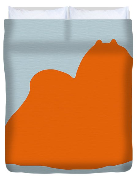Maltese Orange Duvet Cover by Naxart Studio