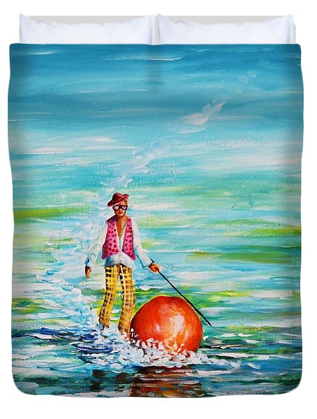 Strolling On The Water Duvet Cover