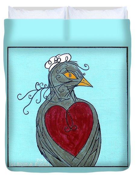 Mama Bird Detail Duvet Cover by Genevieve Esson