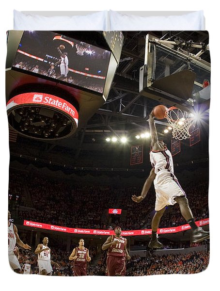 Mamadi Diane Dunk Against Boston College Duvet Cover by Jason O Watson