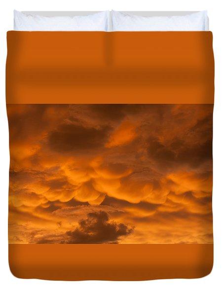 Mammatus Clouds Duvet Cover by Paul Rebmann