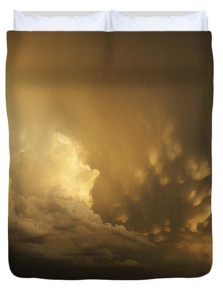 Mammatus Falling Duvet Cover
