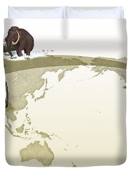 Mammoth Evolutionary Migration Duvet Cover by Spl
