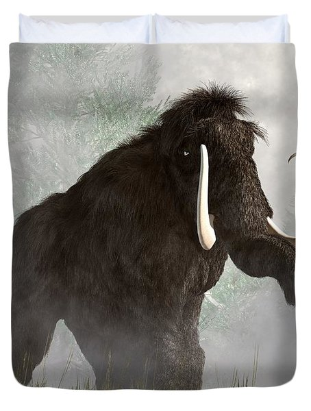 Mammoth In The Fog Duvet Cover