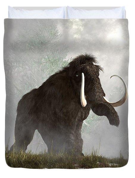 Mammoth In The Fog Duvet Cover