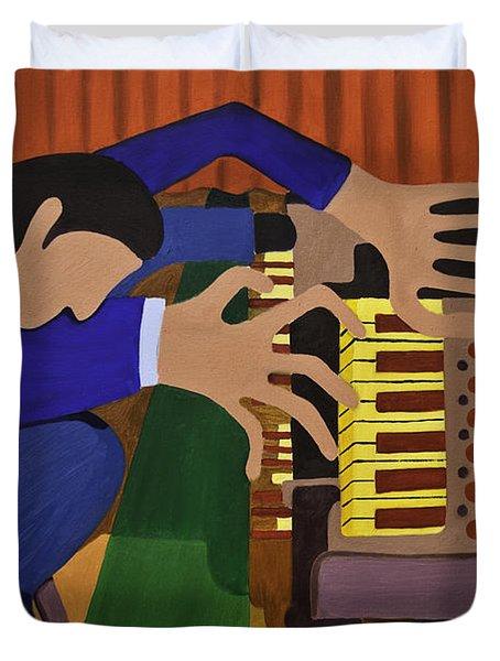 The Organist Duvet Cover