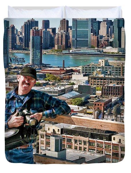Man At Work Duvet Cover
