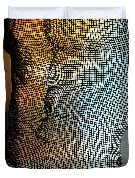 Man Body Duvet Cover by Mark Ashkenazi