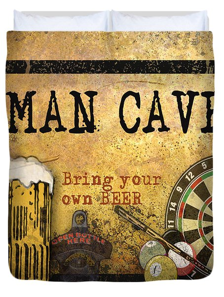 Man Cave-bring Your Own Beer Duvet Cover