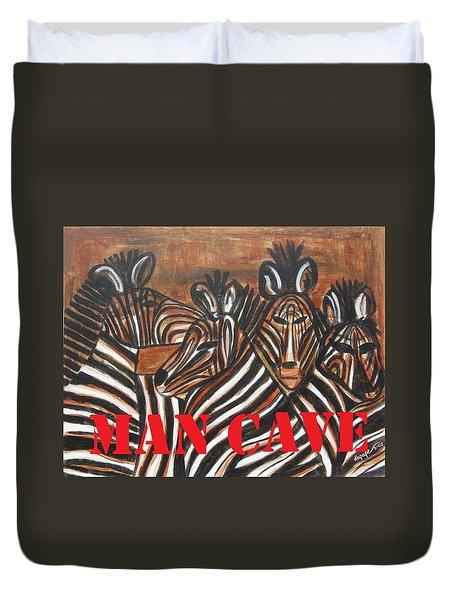 Man Cave Duvet Cover by Diane Pape