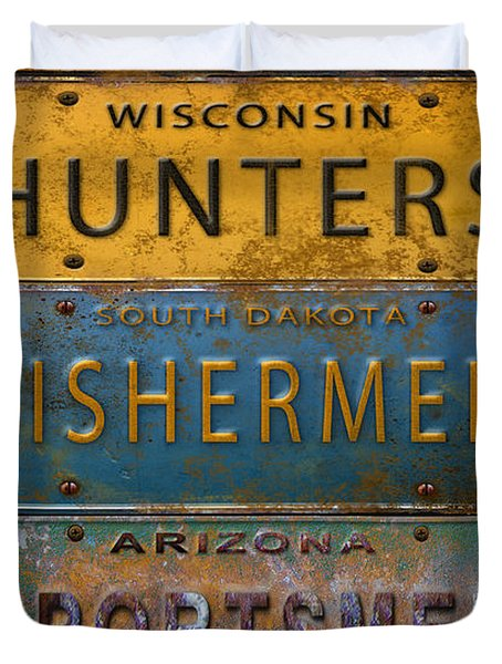Man Cave-license Plate Art Duvet Cover