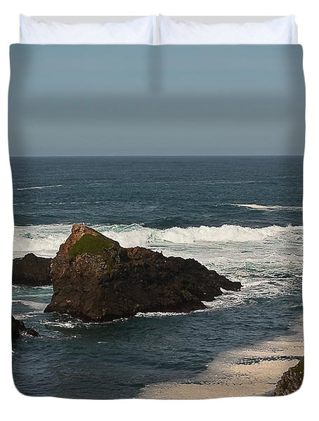 Duvet Cover featuring the photograph Man Fishing by Brian Williamson