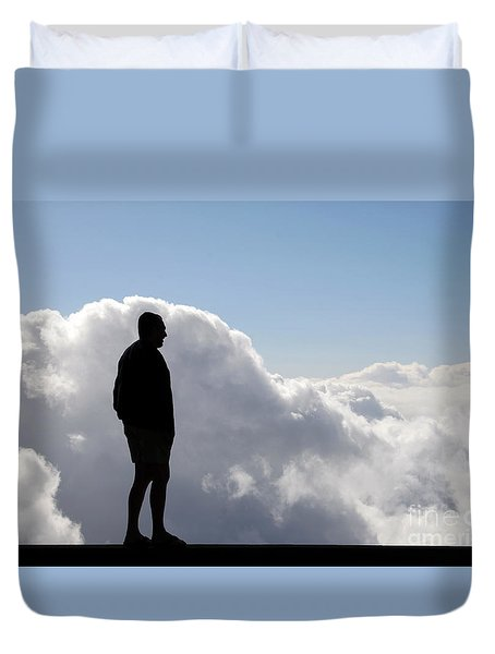 Man In The Clouds Duvet Cover