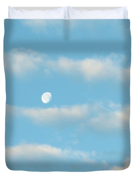 Man In The Moon In The Clouds Duvet Cover by Fortunate Findings Shirley Dickerson