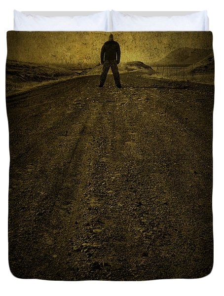 Man On A Mission Duvet Cover
