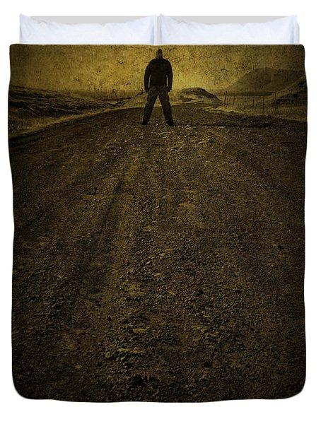 Man On A Mission Duvet Cover by Evelina Kremsdorf