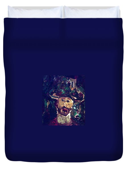 Man With A Hat Duvet Cover