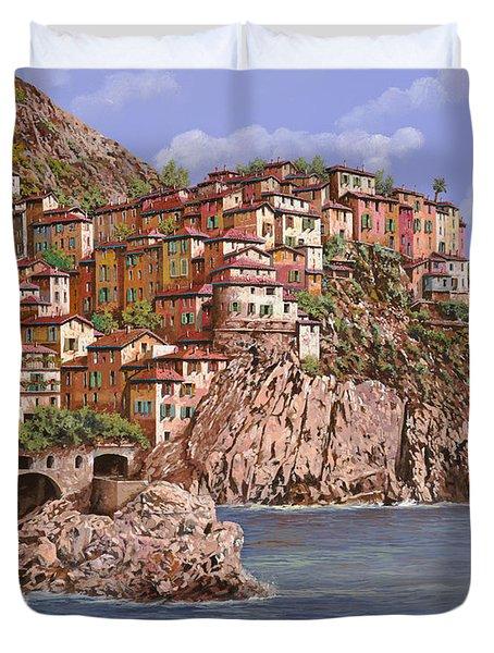 Manarola   Duvet Cover by Guido Borelli