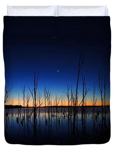 Manasquan Reservoir At Dawn Duvet Cover