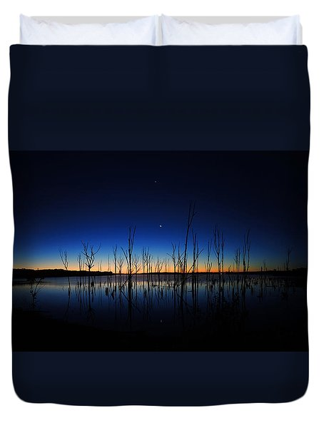 Manasquan Reservoir At Dawn Duvet Cover