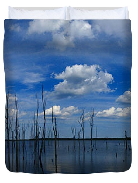 Manasquan Reservoir Panorama Duvet Cover