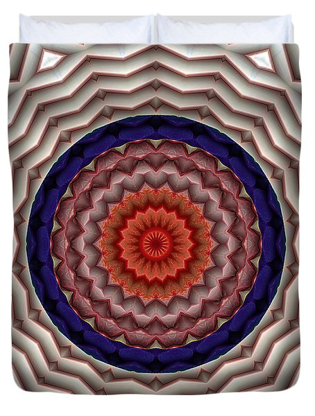Duvet Cover featuring the digital art Mandala 10 by Terry Reynoldson