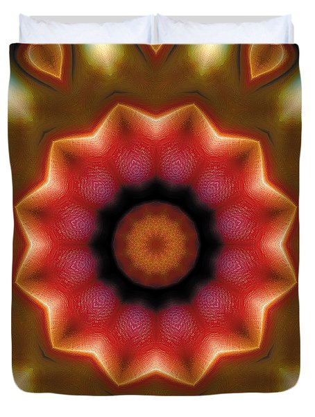 Duvet Cover featuring the digital art Mandala 103 by Terry Reynoldson
